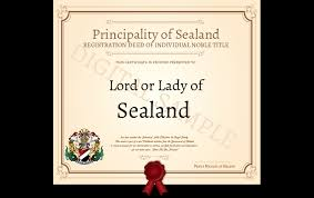 Buy A Title Of Nobility Buy A Royal Title Principality