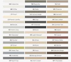 Mid America Color Chart 73 Particular Laticrete Spectralock Pro Grout Color Chart