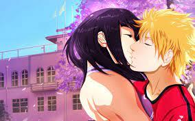Wallpaper : hinata hyuga, naruto uzumaki, kiss, tenderness, building,  spring 2560x1600 - wallup - 1053752 - HD Wallpapers - WallHere