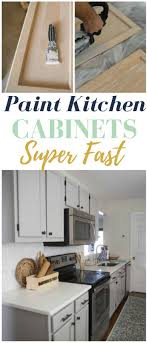 how to paint kitchen cabinets super fast some serious time saving tricks here