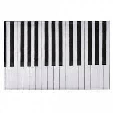non slip c velvet piano keyboard bathroom area rug black stripe w16 inch