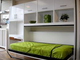 murphy bed home office. modern high gloss white side tilt single murphy bed with desk and overhead storage home office