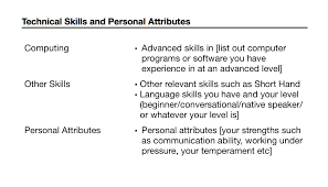 resume attributes how to write a resume for a job with sponsorship for australia