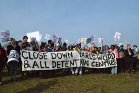 Image result for yarls wood protest  photo