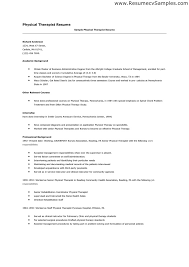Pta Resume 2. Sample Physical Therapy Resume Free