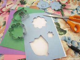 Paper Flower Cutter Tissue Paper Flower Cut Out Cards Made With Cookie Cutters