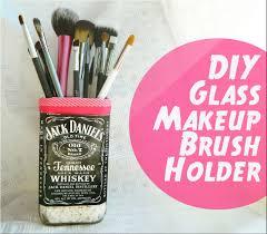 diy makeup brush holder candle vase cup ext out of gl bottles how 2 cut gl tutorial