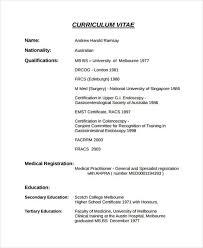 Curriculum Vitae Template Australia 9 Doctor Curriculum Vitae Templates Pdf Doc Free