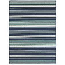 allen roth syden oasis blue rectangular machine made coastal area rug common