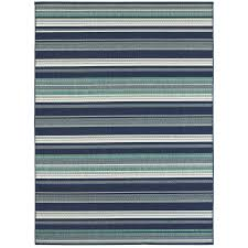 allen roth syden oasis blue rectangular machine made coastal area rug common