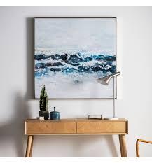 pacific ocean waves framed art