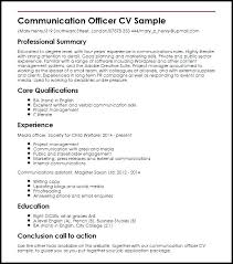 Sample Resume Communication Skills