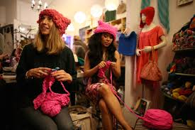 Thousands of women wore pink pussy hats for Women s March on.