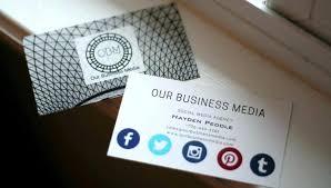 Social Media Business Cards Template Thessnmusic Club