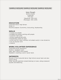 Sample College Resume For High School Seniors 20 Example High School