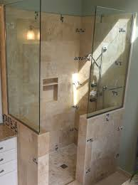 Bathrooms Without Tiles Zciiscom Tiled Walk In Shower Size Shower Design Ideas And