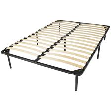 Queen Metal Bed Frame w/ Wooden Slats – Best Choice Products