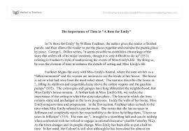 the importance of time in a rose for emily university  document image preview
