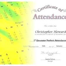 free perfect attendance certificate printable certificates of perfect attendance 290721650056 free