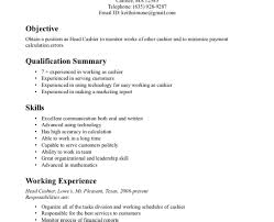 Sample Of Resume For Cashier Chef Resume Examples