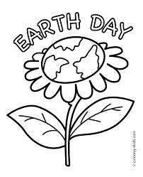 Images Of Easy Free Flower Coloring Pages Preschool Showing Parts