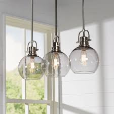 burner light kitchen island pendant remodelling lighting fixture best square hanging clear glass multi satin nickel
