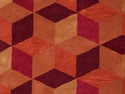 orange geometric rug plush luxurious mid century modern within orange geometric rug