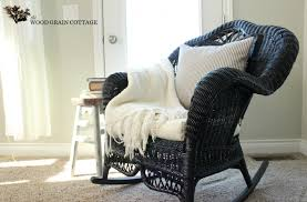 black wicker rocking chair. Exellent Wicker Wicker Rocking Chair By The Wood Grain Cottage Intended Black A