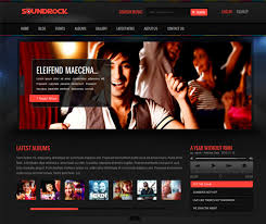 Music Website Templates Impressive 28 Cool Websites Templates Themes For Actors And Singers