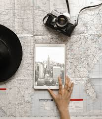 Photographer Chart Flat Lay Photography Of Person Touching Silver Ipad On World