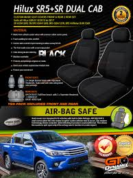 custom seat covers to suit for toyota hilux dual cab gen 8 sr5 sr 10 2016 2018 in black sr ggn120r sr sr5 126r sr5 ggn125r sr5 hi rider 136r