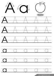 letter a tracing worksheet