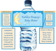 Decorating Water Bottles For Baby Shower Baby Shower Stars and Moons Water Bottle Label 73