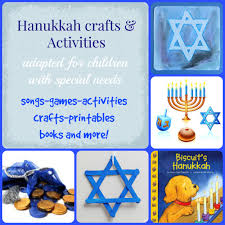 Small Picture adaptive Hanukkah and dreidel activities for kids with special needs