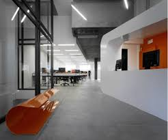 industrial modern office. This Space Is Very Industrial, I Can\u0027t Tell If Those Are Really Shipping Containers Or Just A Faux Treatment. Love The Black, Orange And White Color Industrial Modern Office .