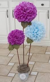 Small Picture Bonsai of DIY tissue paper pom poms crafts home decor diy paper