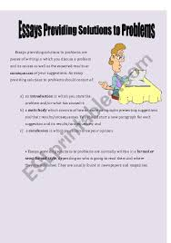 English Worksheets Essays Providing Solutions To Problems