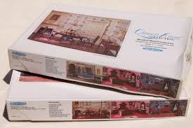 Realife miniatures 70s vintage dollhouse furniture kits Queen