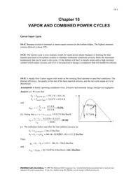 Thermodynamics.Cengel.6th.Solutions Ch10 - Termodinâmica I