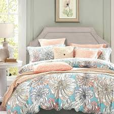 vintage flower duvet covers peach grey and sky blue vintage fl bedding french country rustic style cotton