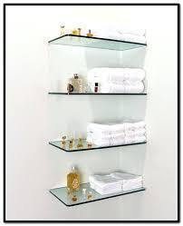 floating glass shelves brackets for shelf with light