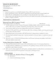 Example Of Nursing Resume Beauteous Example Of A Nursing Resume Registered Sample Nurse Resume Samples