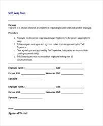 Employee Change Form Amazing Shift Change Form Ibovjonathandedecker