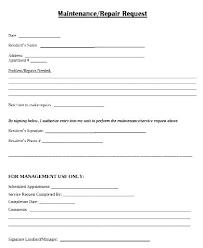 work order maintenance request form template repair request form template free templates maintenance work order