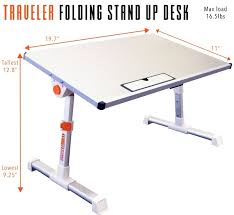 wish stand steady traveler folding portable standing desk height adjule laptop bed table adjule monitor stand or children s floor table