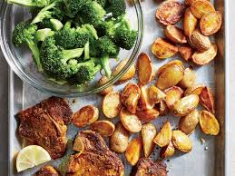 Turmeric Lamb Chops With Crispy Potatoes And Broccoli Recipe