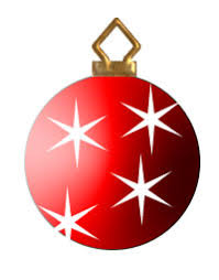 christmas tree ornament clipart. Red Christmas Tree Ornament On Clipart