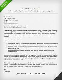 Pharmacist Cover Letter Sample Resume Genius With Cover Letter