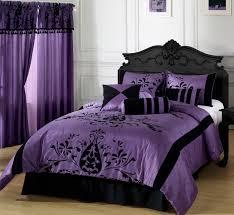 Purple Wallpaper Bedroom Interior Elegant Bedroom Purple Interior Design Wooden Sideboard