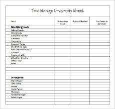 Office Inventory List Template Sample Restaurant Inventory 6 Documents In Pdf Coffee